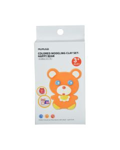 Colored Modelling Clay Set - Happy Bear