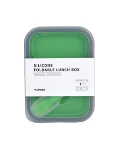 Silicone Foldable Lunch Box With Compartments